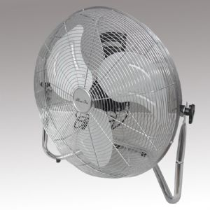 Strong Velocity Airflow Chrome Energy Saver Floor Fan l Powerstarelectricals.co.uk